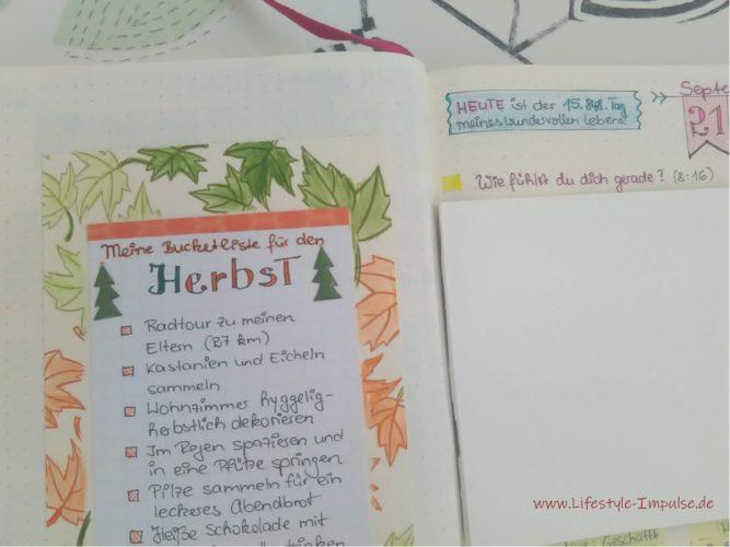 Kinderleicht eine eigene Bucket-List für den Herbst gestalten